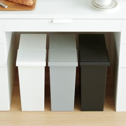 TOSTE/トステ カウンター下ダストボックス 3個組 カウンター下にもすっぽり収まる省スペース設計です。