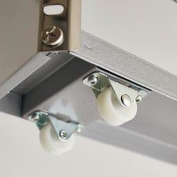 ステンレス製キッチンすき間収納ワゴン ロータイプ(高さ81cm)  幅20cm奥行60.5cm キャスターが6個も付いていて、軽い力でもスムーズに引き出せます。