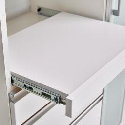 Torerant/トレラント コンパクトレンジカウンター 幅89.5cm・家電収納2段(高さ115cm) ホワイト