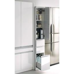 Anya/アーニャ キッチンすき間収納 ハイタイプ(引き出し3段) 幅30cm奥行55cm高さ178cm ※写真は幅25奥行55cmタイプです。