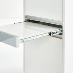 Ymir/ユミル 隠せる家電収納 幅50奥行55cm高さ178cm キッチンでの作業中に便利な引き出し式の作業台付き。