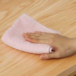 VineII/ヴィネ2 アイランドカウンターオークタイプ オーク天板 幅120cm ウレタン塗装 拭き掃除も簡単で、水まわりでの使用も安心。
