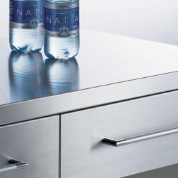 SmartII スマート2 ステンレスシリーズ 間仕切りオープンキッチンカウンター 幅90.5cm高さ100cm 熱や汚れに強いステンレス天板