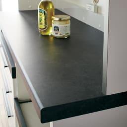 Boulder/ボルダー 石目調天板キッチンシリーズ カウンター 幅120cm 奥行45cm シックな石目調の天板はキズや汚れにも強くお手入れ簡単。
