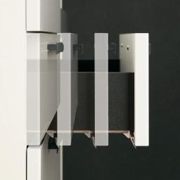 Boulder/ボルダー 石目調天板キッチンシリーズ カウンター 幅120cm 奥行45cm 引き出しはサイレントレールで静かに滑らかに開閉。