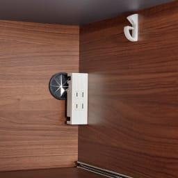 Boulder/ボルダー 石目調天板キッチンシリーズ カウンター 幅160cm 奥行50cm 右側下段のスライドテーブル家電収納部にもコンセント2口(計1500W)を付属しました。