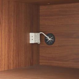Rhone/ローヌ キッチンシリーズ オープンボード 幅120.5cm 家電収納内部には1口コンセント(計1500W)を備えています。