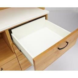 Pippi/ピッピ アルダー材コンパクトキッチン キッチンボード 幅100.5cm 小引き出し付きで細々したカトラリーやキッチン雑貨もすっきり整理整頓できます。