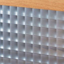 Pippi/ピッピ カウンター下収納庫 引き戸 幅150奥行23cm 【クロスガラス】美しい輝きで内部をほどよく目隠し。