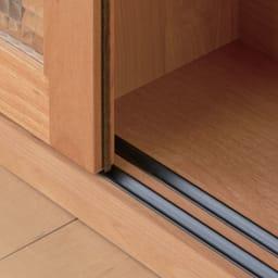 Pippi/ピッピ カウンター下収納庫 引き戸 幅150奥行23cm 【引き戸はレール式】少しの力でスムーズに開閉できます。