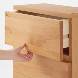 Pippi/ピッピ カウンター下収納庫 チェスト 幅45奥行32cm 扉は扉下部に手をかけて開けるタイプ。指がかけやすく簡単に開閉。