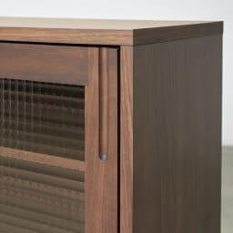 Pippi/ピッピ カウンター下収納庫 引き戸 幅150奥行32cm 取っ手は彫り込みタイプですっきりとした見た目に。