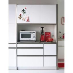 Maquina/マキナ ダイニングボード・キッチンボード 幅127cm ホワイト