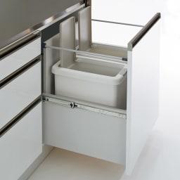 Maquina/マキナ ダストダイニングボード・キッチンボード 幅107cm ダストボックス収納 ダストダイニングボード幅107cmは1つ、ダストダイニングボード幅127cmは2つの別売りゴミ箱をすっきりと収納可能。