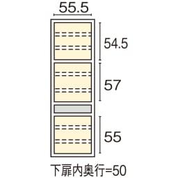 Maquina/マキナ カップボード・食器棚 幅60cm 内寸図(cm)