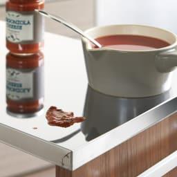 Mighty/マイティ ステントップワゴン 高さ85cm 【熱や汚れに強い】調理中のお鍋や濡れた食材も置けるステンレス天板。