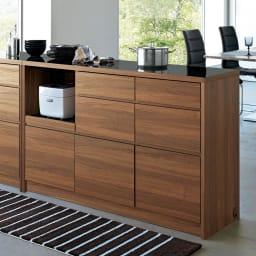 Granite/グラニト アイランド間仕切りキッチンカウンター幅140cm 家電収納付き お届け商品はこちらの幅140cmタイプになります。