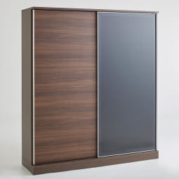 Orga/オルガ スライドキッチン収納 キャビネット 幅160cm (イ)ダークブラウン