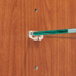 Sorrento/ソレント リビングキャビネット 幅76高さ183cm ガラス扉 LED照明付き 扉内の棚板は6cmピッチで高さ調整できます。