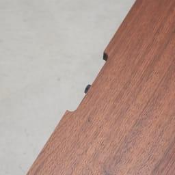 Carell/カレル リビングボードシリーズ 幅120 高さ40引き出しタイプ 天板の配線カット(10×1cm)の有無が選べます。