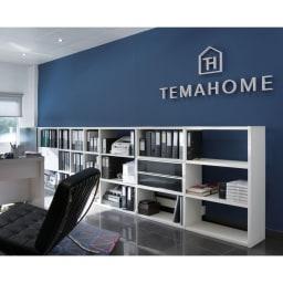 Pombal/ポンバル シェルフ 5連セット 高さ224cm TEMAHOMEオフィス風景。北欧家具の伝統を受け継ぎ、シンプルでいてヨーロッパの香りあふれるモダンな家具を世界40ヵ国1300以上の店舗に供給しているポルトガル最大級の家具メーカー。著名デザイナーとも共同開発を行い、ファンを増やし続けています。