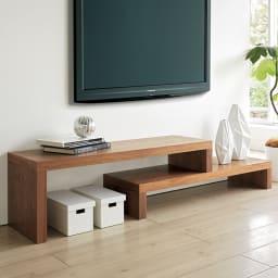 HS Cliff/エイチエスクリフ 伸縮式テレビ台テーブル 幅120cm[temahome テマホーム] ウォルナット