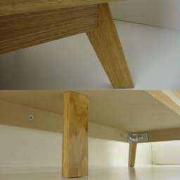 オーク天然木 リビングボード サイドボード [WOODMAN・ウッドマン] 脚先もしっかりデザインされています。永くお使いいただくために、安心のセンターレッグ。