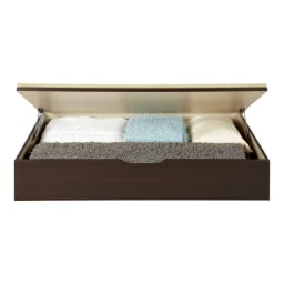 美草跳ね上げ式ユニット畳 畳単品 高さ33cm 1畳 高さ33cmタイプは1畳分に布団やラグなどが収まります。(収納部内寸高さ25cm)