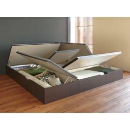 美草跳ね上げ式ユニット畳 畳単品 高さ45cm 大容量 1畳 大容量 オープン時(高さ33cmタイプ )※お届けは高さ45cmタイプです。