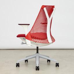 HermanMiller/ハーマンミラー セイル チェア レッド 背骨の自然なカーブにフィットするような背もたれ