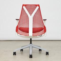 HermanMiller/ハーマンミラー セイル チェア レッド フレームのない背もたれとYタワー構造が印象的なデザイン。