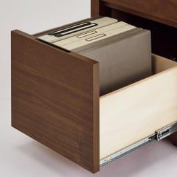 Antisala/アンティサラ パソコンデスク チェスト 幅45 下段にはA4ファイルが収納できます。