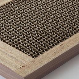 Antisala/アンティサラ パソコンデスク チェスト 幅45 天板はハニカム構造で耐荷重約30kgを実現。