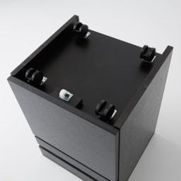 Brook(ブルック) ウッドデスクシリーズ サイドチェスト デザインを重視した隠しキャスター付きで移動も可能。