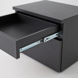 Brook(ブルック) ウッドデスクシリーズ プリンターカート 引き出しは、全段ストッパー付きのスライドレールで、開閉や出し入れもラクラクです。