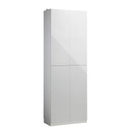 Wand/ヴァント 高さオーダー天井突っ張り本棚 奥行45cm 幅90cm (ア)ホワイト