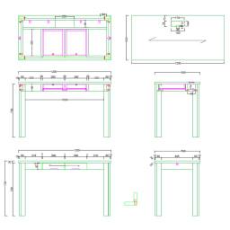 Urthr(ウルズ)モダンナチュラルシリーズ デスク 幅120cm 詳細図