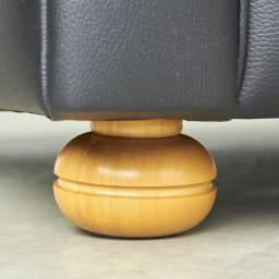 LeClass/ルクラス チェスターフィールド革張り・レザーソファ トリプルソファ 3人掛けソファ 幅201cm 脚部には天然木を使用