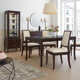 Emilia/エミリア ダイニングテーブルL 160×85cm 写真のテーブルは幅135cmタイプ
