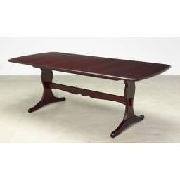 エレガントクラシックシリーズ 伸長式ダイニングテーブル 幅165cm~205cm ダークブラウン
