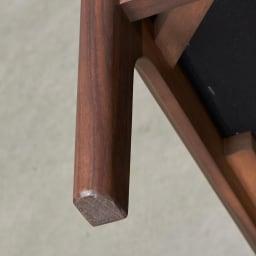 a tempo/アテンポ ウォルナット天然木 木製フレームスツール・オットマン 幅70cm