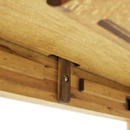 EDDA/エッダ 北欧スタイル 伸長式ダイニングテーブル 幅135~170cm 天板裏