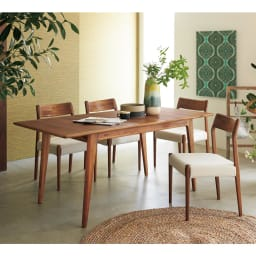EDDA/エッダ 北欧スタイル 伸長式ダイニングテーブル 幅135~170cm テーブル(伸長時)