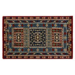 Pamir/パミール エジプト製ウィルトン織マット 約50cm×80cm ブルー系