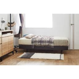 SIMMONS×HOUSE STYLING/シモンズ ショート丈・脚長ダブルクッションベッド 5.5インチマットレス マットレスも小さいので圧迫感が少なく、ソファ感覚でくつろげます。