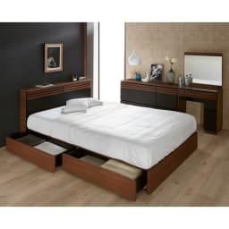 AlusStyle/アルススタイル ベッドシリーズ ベッドフレームのみ [コーディネート例]※お届けはベッドフレームのみです。