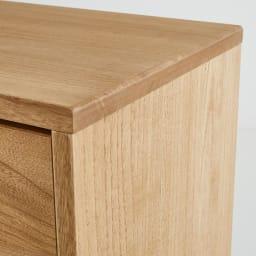 Sarasa/サラサ桐チェスト 幅100cm・2段(高さ71.5cm) 角は手作業で削り、丸みを持たせています。
