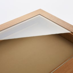 北欧ジュエリー収納付チェスト ハイタイプ 幅60cm・5段(高さ108cm) 天板がガラス張りになっているのでアクセサリーをディスプレイとして美しく飾れます。