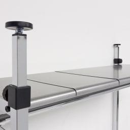 Shinevarie(シャインバリエ) クローゼットハンガーラック 幅120cm~200cm対応 収納棚も隙間なく伸縮できます。奥行36cmなのでバッグや箱物が置けます。