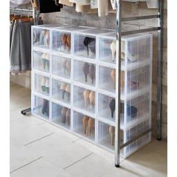 bcl シューズケース タテ型タイプ 玄関に収まらない靴は、ハンガー下やクローゼット・ワードローブ内にに収納するのもおすすめ。